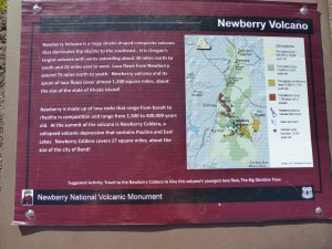 Newberry Volcano sign